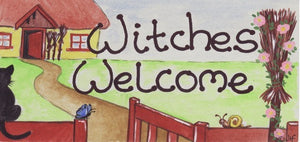 Witches Welcome Sign