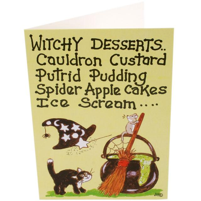 Witch Desserts Greetings Card