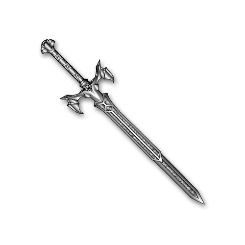 3D Vorpal Sword Pin