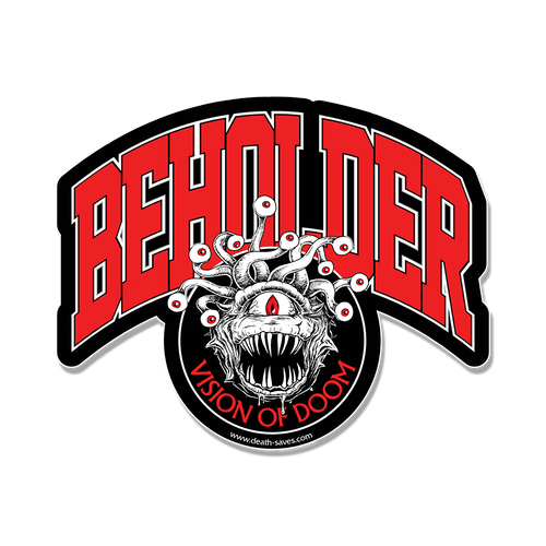 D&D Beholder Sticker (Red)