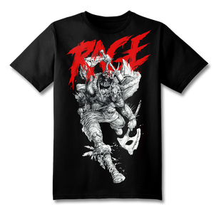 Rage SS T-Shirt Illustration by Burney  & Illustrated Text by Mindkiller Ink