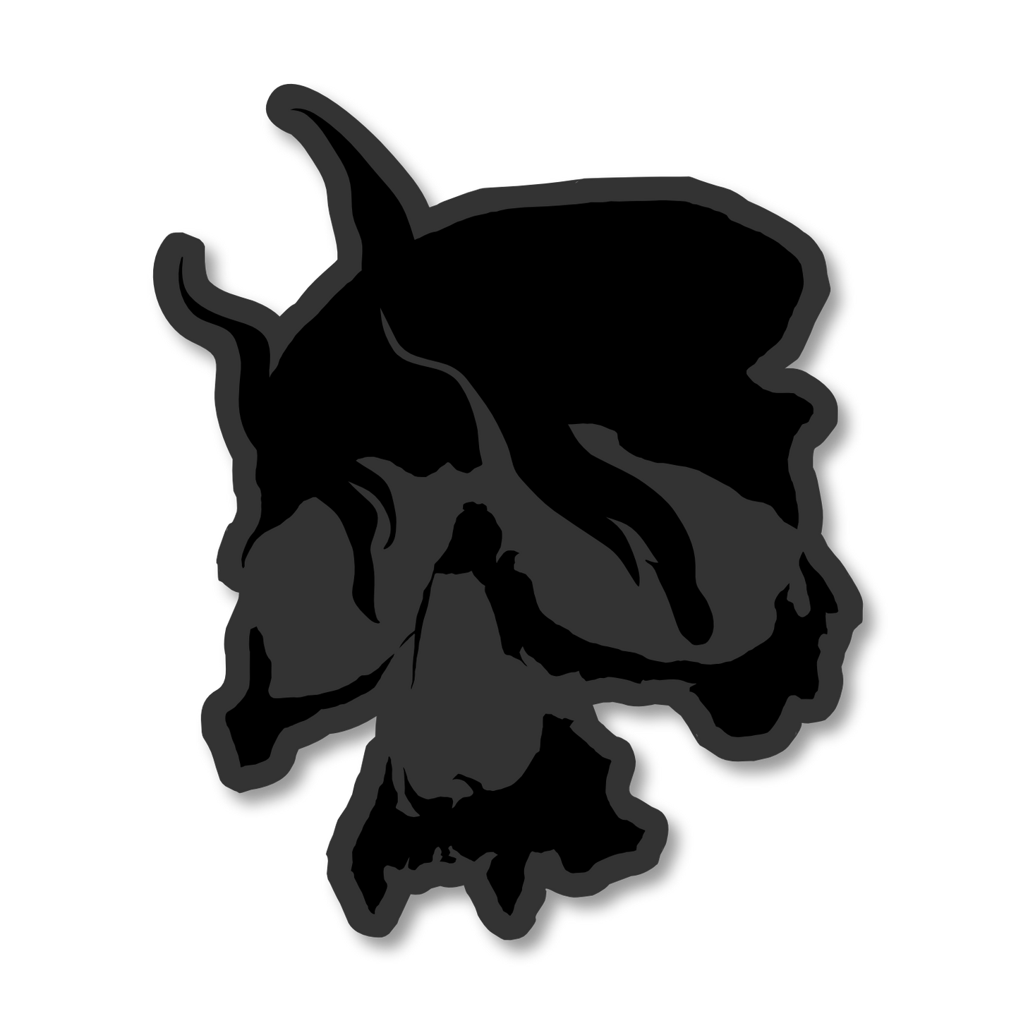 Smoking Skull Patch (Black)