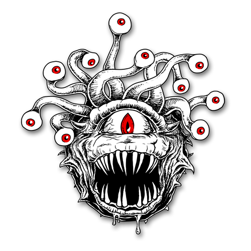 Beholder Patch Illustration by Ryan Burgdorfer D&D