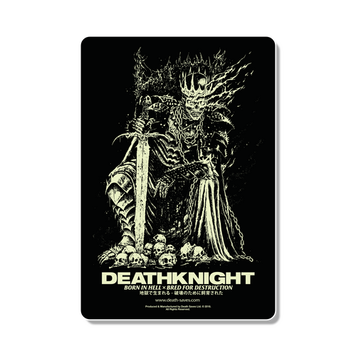 Death Knight Sticker (GID White)