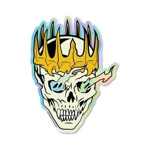 Prismatic Death Knight Skull Sticker