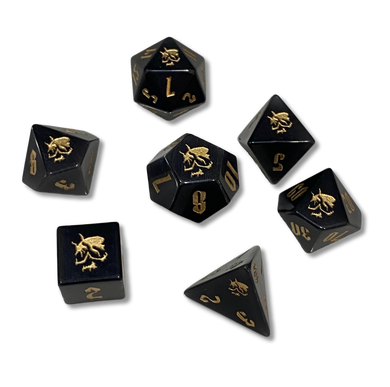 Death Saves - Death Dice (Black Gemstone)