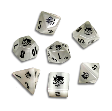 Death Dice (White Gemstone)