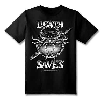 D&D 80's Cartoon Dragon Shield T-Shirt (Black)