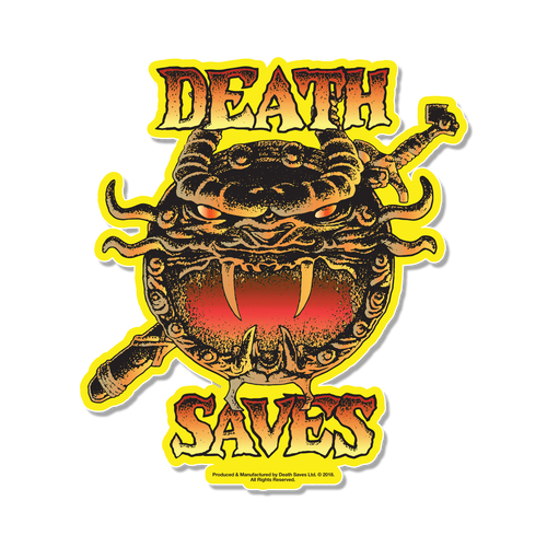 D&D 80's Cartoon Dragon Shield Sticker (Yellow)