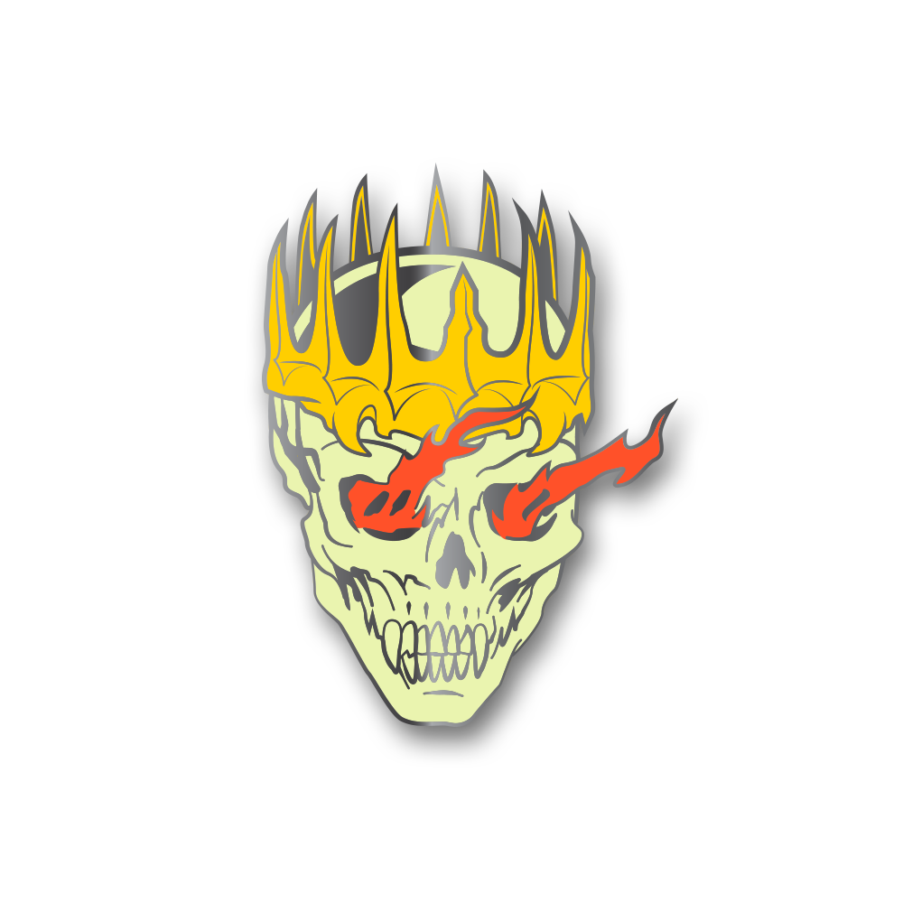 Death Knight Skull Pin