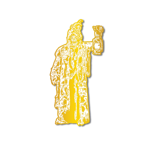 Lantern Man Pin (Gold) Illustrated by Funeral French