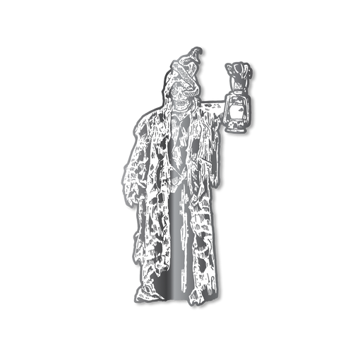 Lantern Man Pin (Silver) Illustrated by Funeral French