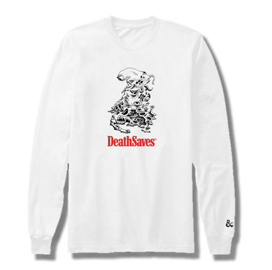 Gibbering Mouther LS T-Shirt (White)