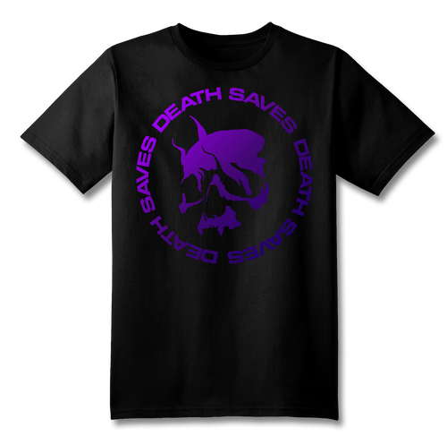 Smoking Skull T-Shirt (Gradient Purple)