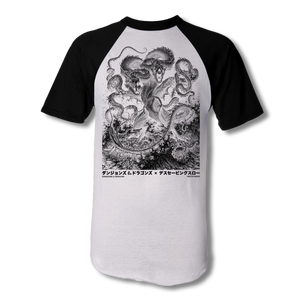 D&D Japanese Demogorgon Baseball T-Shirt