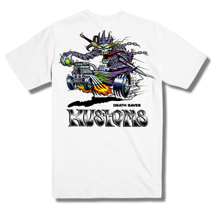 Death Saves Kustoms T-Shirt (White)