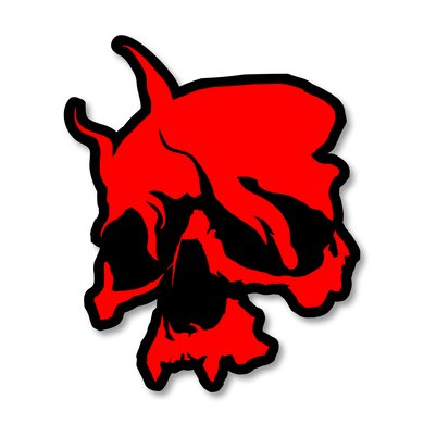 Smoking Skull Patch (Red)