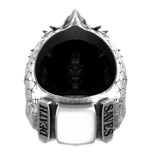 Cursed Skull Of The Dragon Wizard Ring | Silver