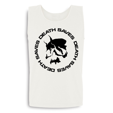 Smoking Skull Tank (White)
