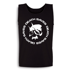 Smoking Skull Tank (Black)