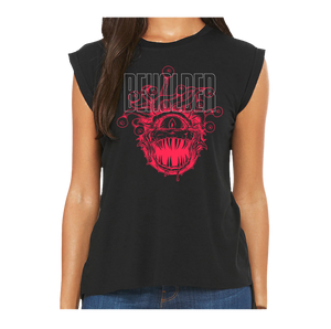 WOMEN'S Beholder T-shirt (Sleeveless) Artwork by Ryan Burgdorfer