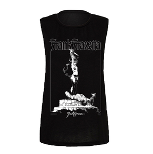 Frazetta Girl with Dagger Women's Tank (Black)