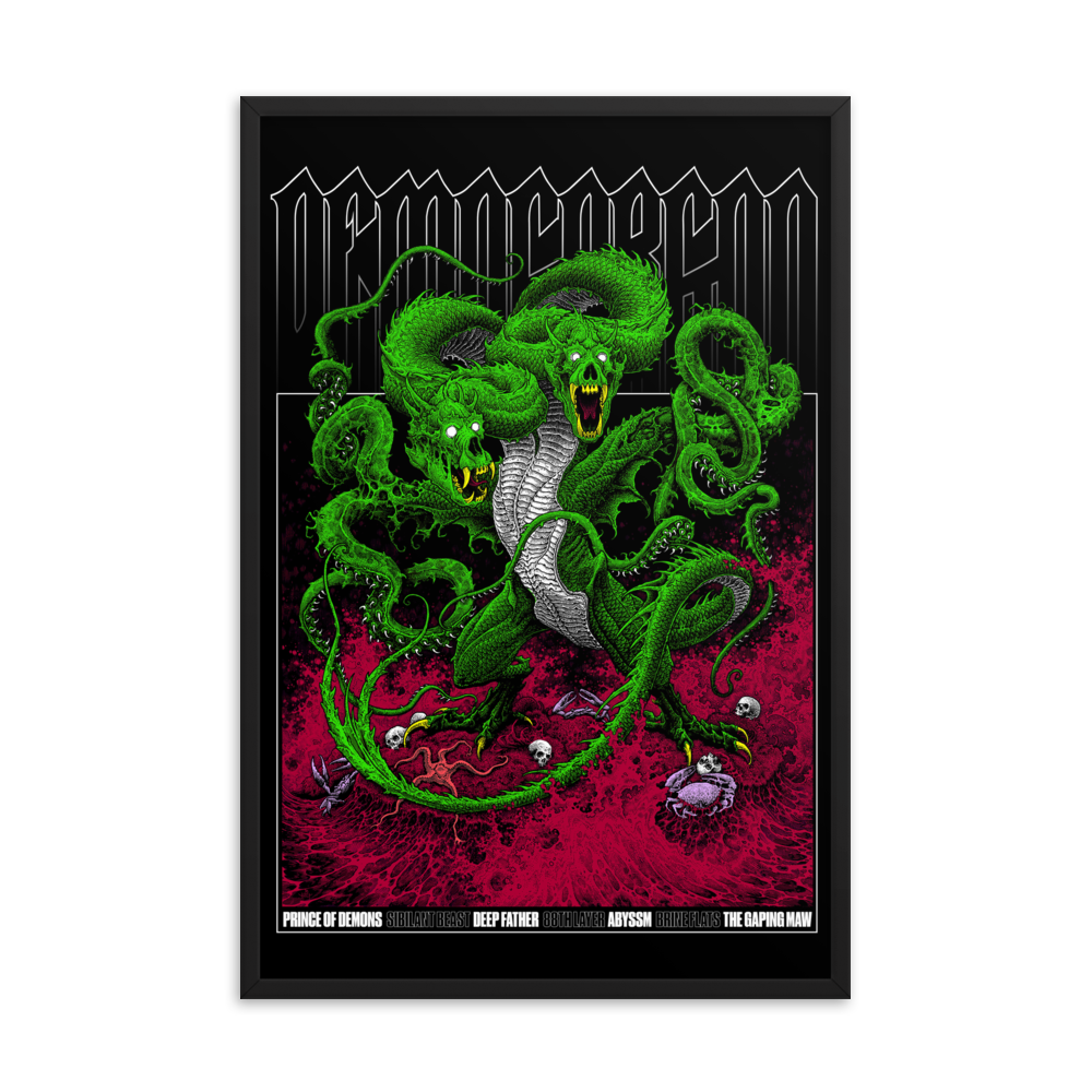 Demogorgon Framed Poster 24x36 [COLOR]