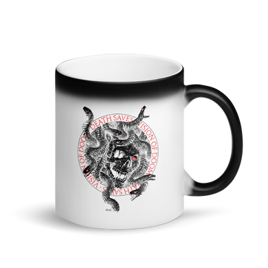 Medusa Matte Black Magic Mug