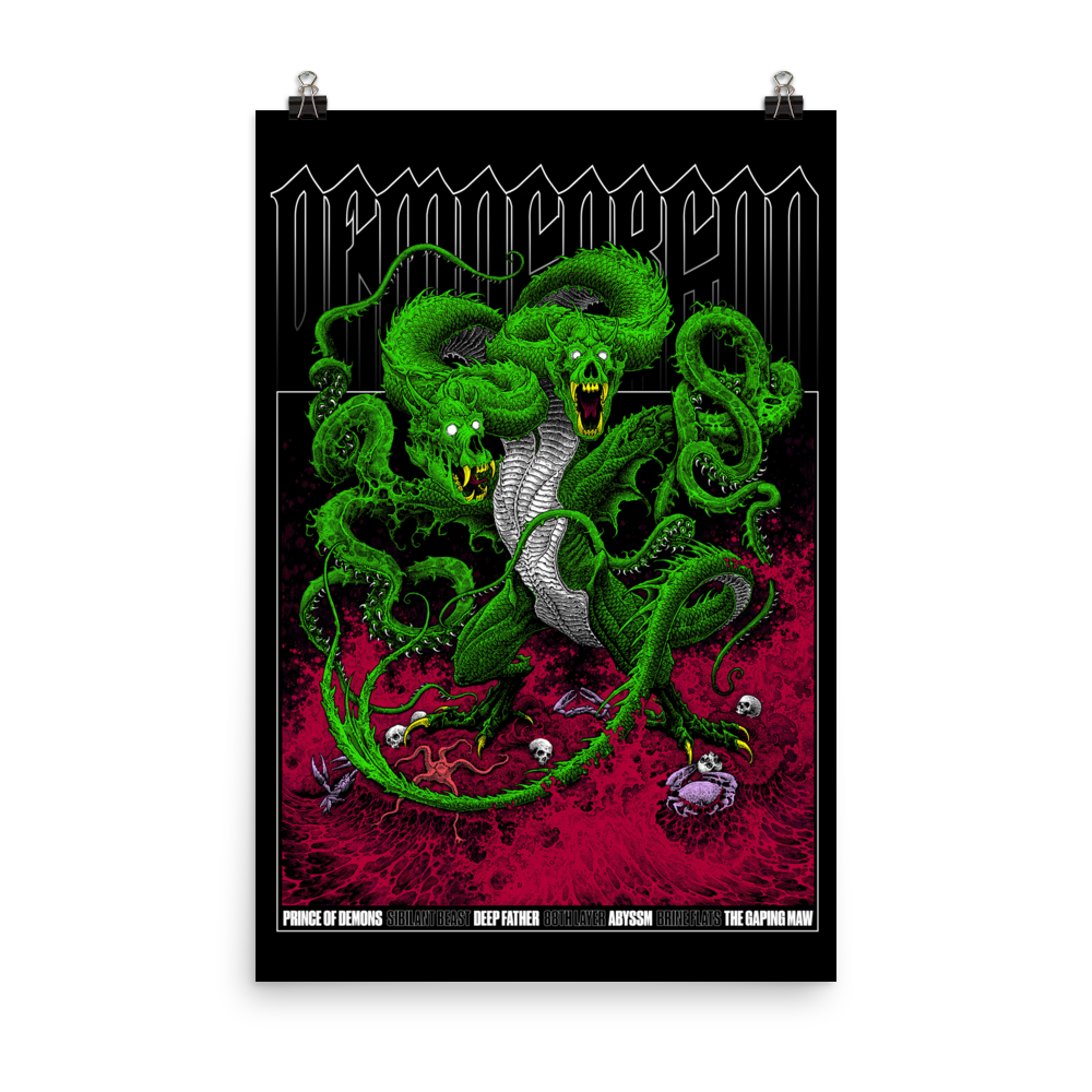 D&D Demogorgon Poster 24x36 [COLOR]