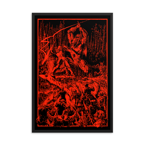 D&D Paladin in Hell (Redux) Framed Poster [24x36]
