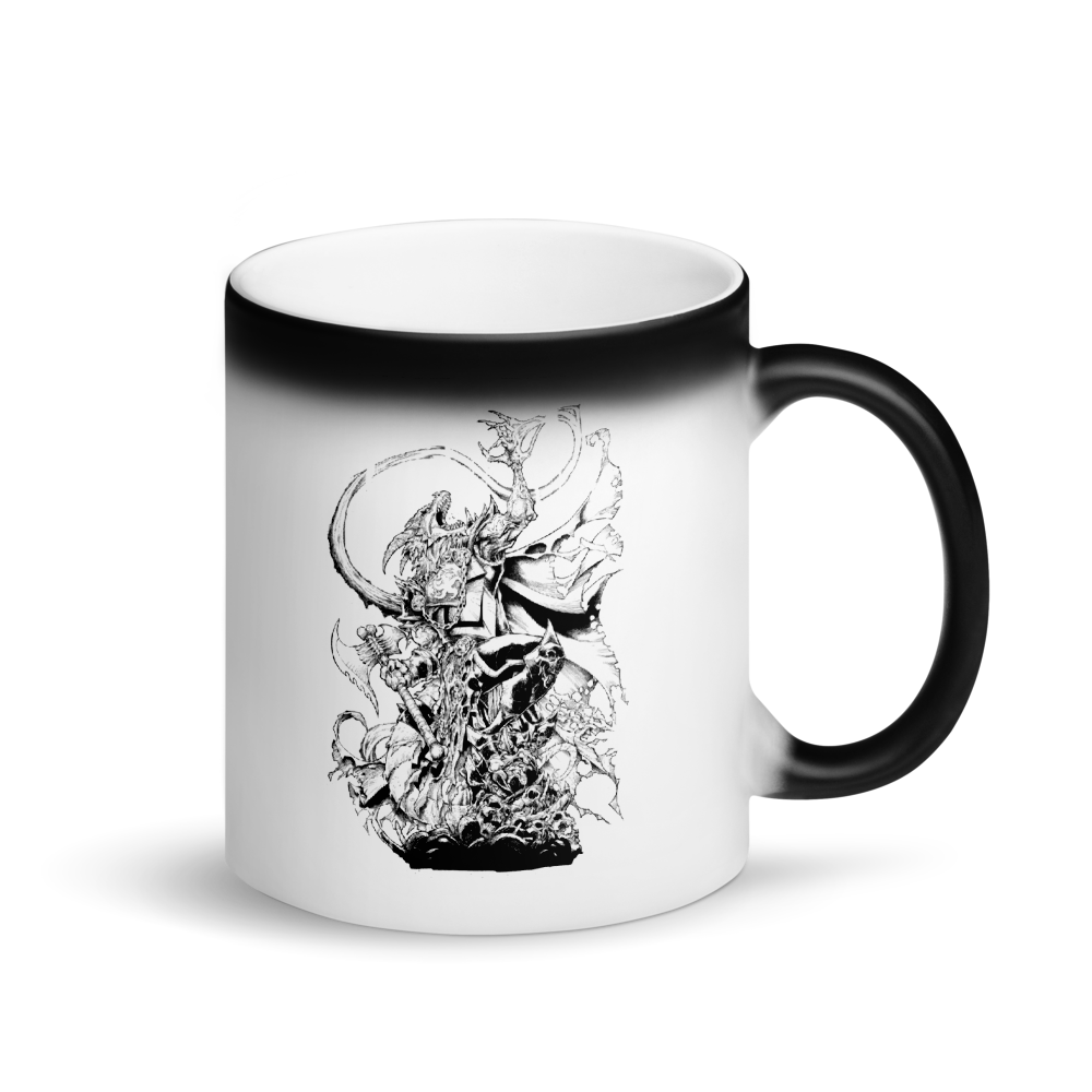 Arkhan the Ascended Matte Black Magic Mug