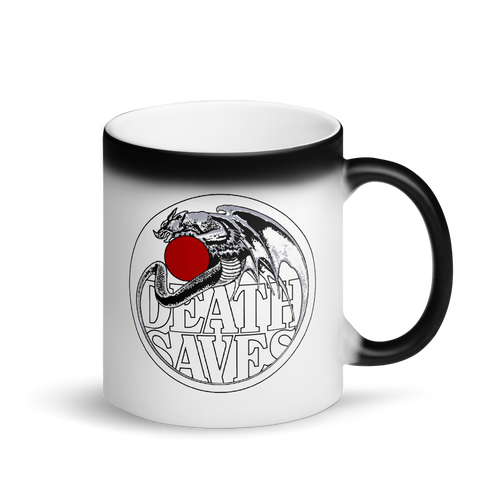 Dragon Orb Matte Black Magic Mug