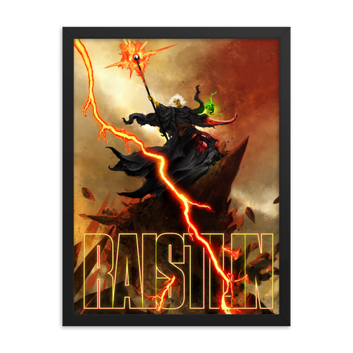D&D Raistlin Framed Poster [18 x 24]