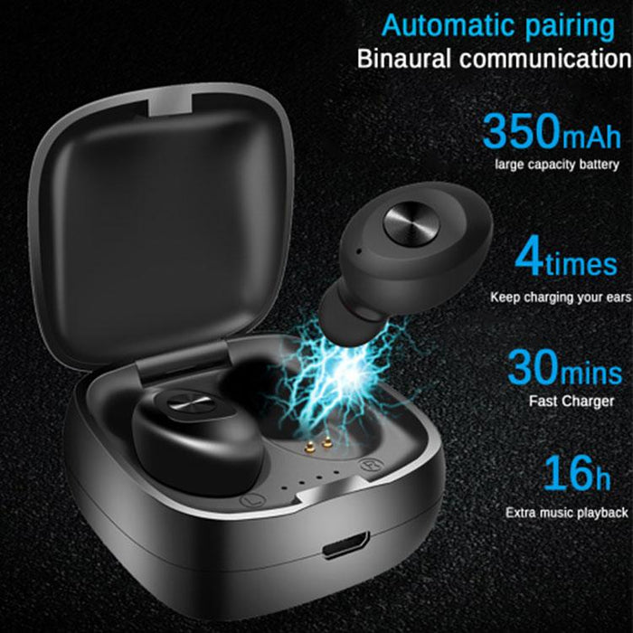 XG12 TWS Bluetooth 5.0 Earphones Wireless Waterproof Mini In-ear HIFI Headset