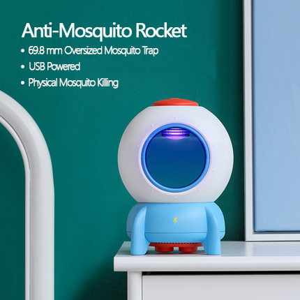 ROCKET MOSQUITO KILLER--Children's Interesting Physical Kill Mosquito 100% Safe Design.Keep Family Healthy