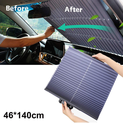 Automatic Retractable Car Windshield Sun Shade