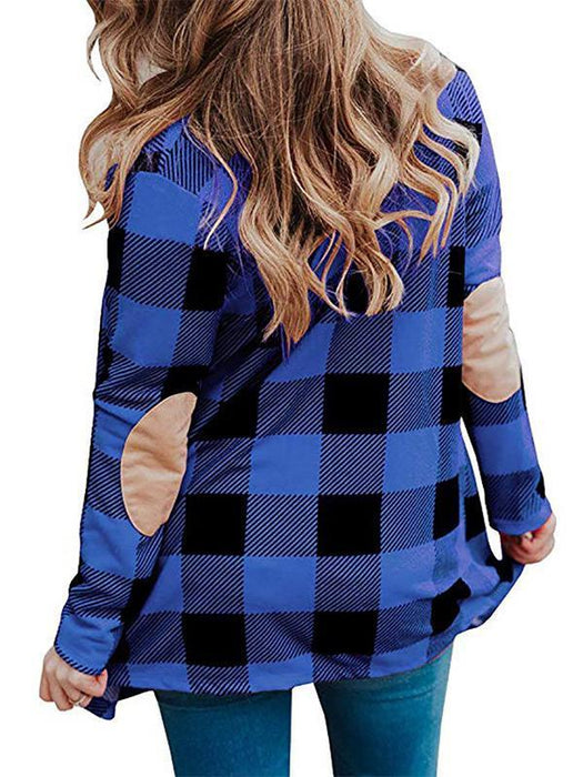 Button Up Plaid Coat