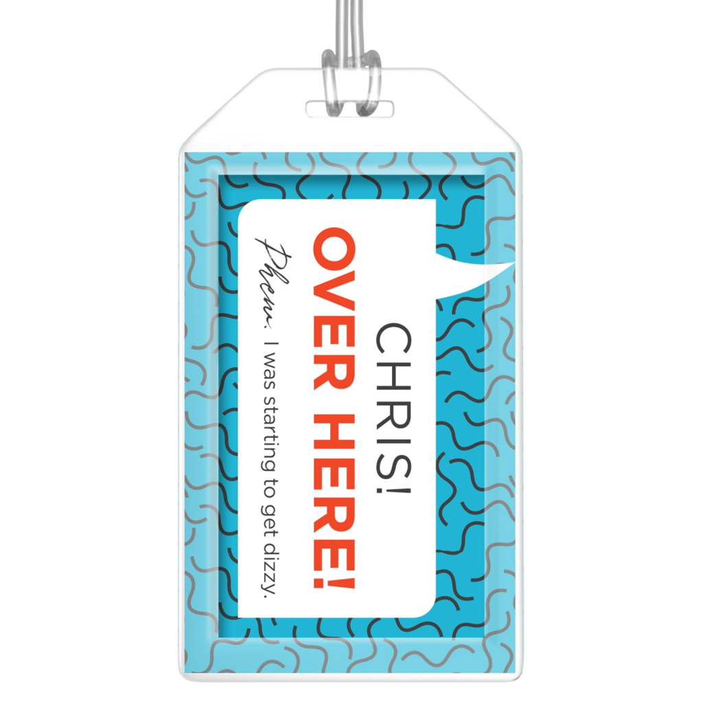 Personalized OVER HERE! Luggage Tags
