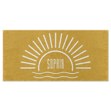Sun's Up Beach Towel (Personalized)