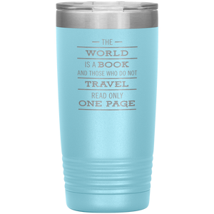 The World Is A Book Travel Mug - Stainless Steel 20oz Tumbler For All Occasions