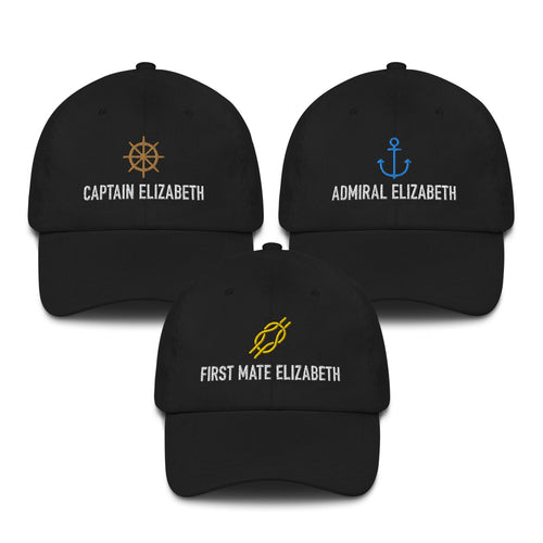 Captain, Admiral & First Mate Baseball Cap 3 Pack