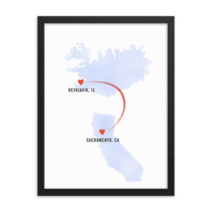 "Customized ""Long-Distance Love"" Art Print For Father's Day"