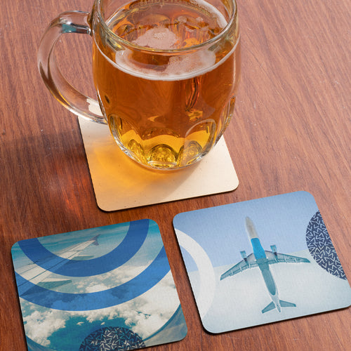Boarding Pass Coaster Set - Set Of 6! Aviation Inspired Cork Coasters