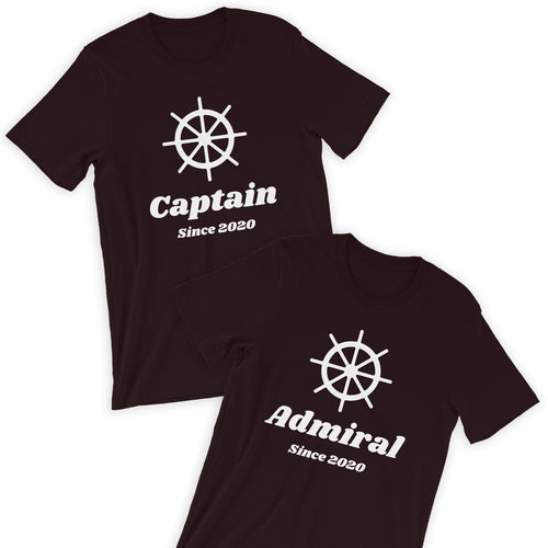 Captain & Admiral T-Shirt Bundle / His & Her