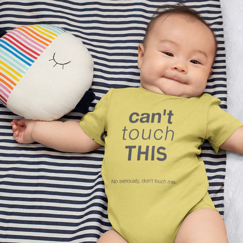 Hilarious AND PROTECTIVE 'Can't Touch This' Baby One Piece - #SocialDistancing At Its Finest!