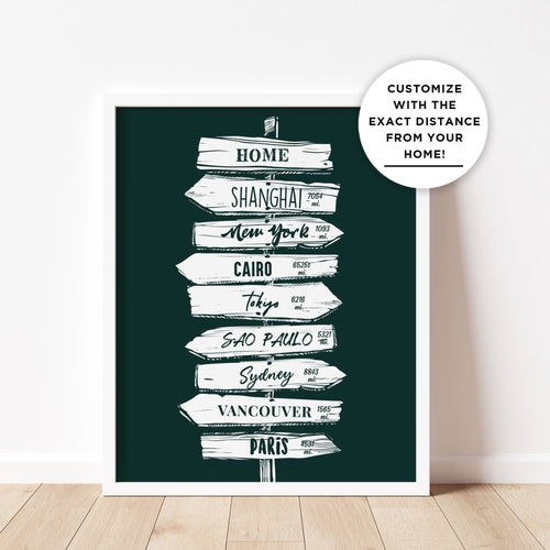 The Iconic Signpost Image: Personalized For Your Home
