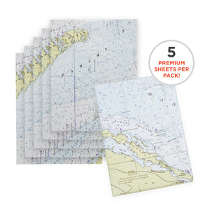 Nautical Chart Wrapping Paper – 1977 Straits Of Florida Edition Map