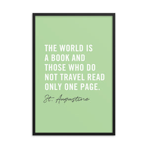 The World Is A Book Art Print - Spectacular Travel Quote Wall Art