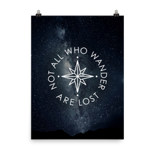 The 'Not All Who Wander Are Lost' Art Print - One-Of-A-Kind Compass Version