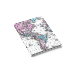 Classic Nautical Map & Vintage World Map Journals - Personalized!
